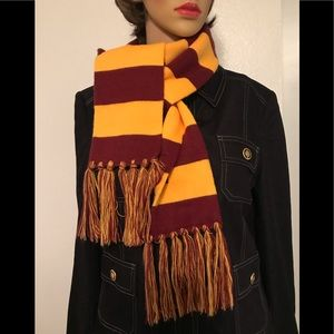 Maroon and Gold Sweater Scarf